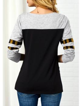 Asymmetric Hem Santa Claus Print Sweatshirt