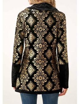 Long Sleeve Crossover Hem Button Detail Sweatshirt