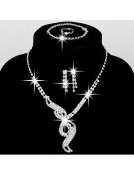Rhinestone Decorated Necklace Set for Wedding