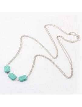Green Stone Design Silver Body Chain