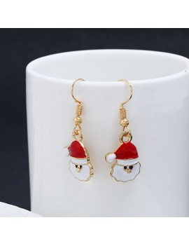 Santa Claus Pendant Earrings for Lady