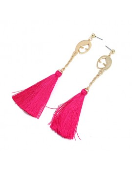 Tassel Design Gold Metal Earrings