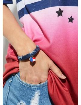 Heart Design Navy Blue Bracelet for Women