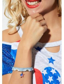 Light Blue Star Design Bracelet for Women