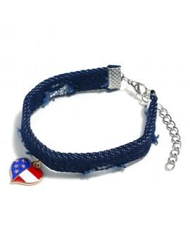 Heart Shape Navy Blue Bracelet for Women