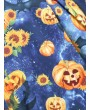 Halloween Sunflower Pumpkin Lace Up Cami Dress -  S