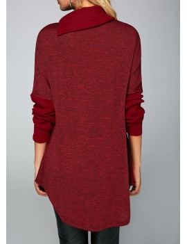Wine Red Button Embellished T Shirt