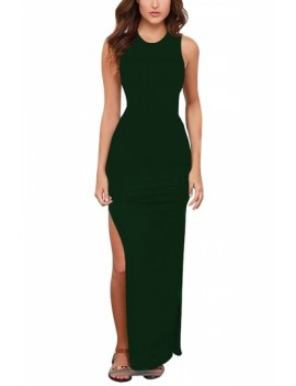 Sexy Bodycon Dress Sleeveless Dark Green