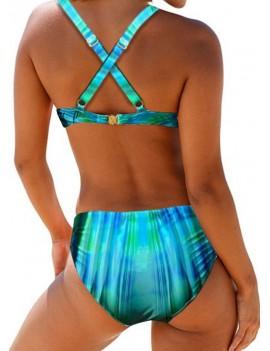 Cross Strap Tie Dye Bikini Set